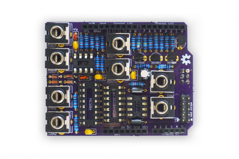 Synapse - A DIY-friendly CV I/O shield for Arduino / shaduzLABS